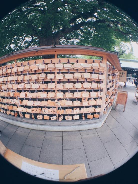 Meiji Jingu/Meiji Shrine - Ema/Wishing Tablet - With Olloclip - helloteri