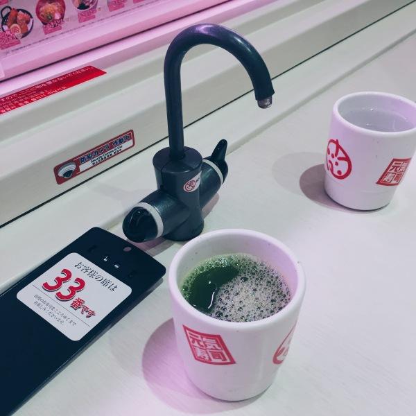 Genki Sushi - Green Tea - helloteri