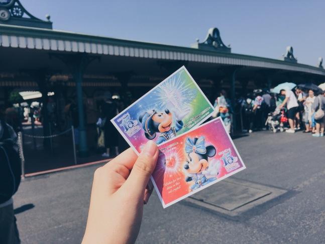Japan, Tokyo Disneyland - Mickey and Minnie Disneyland Entrance Tickets - helloteri