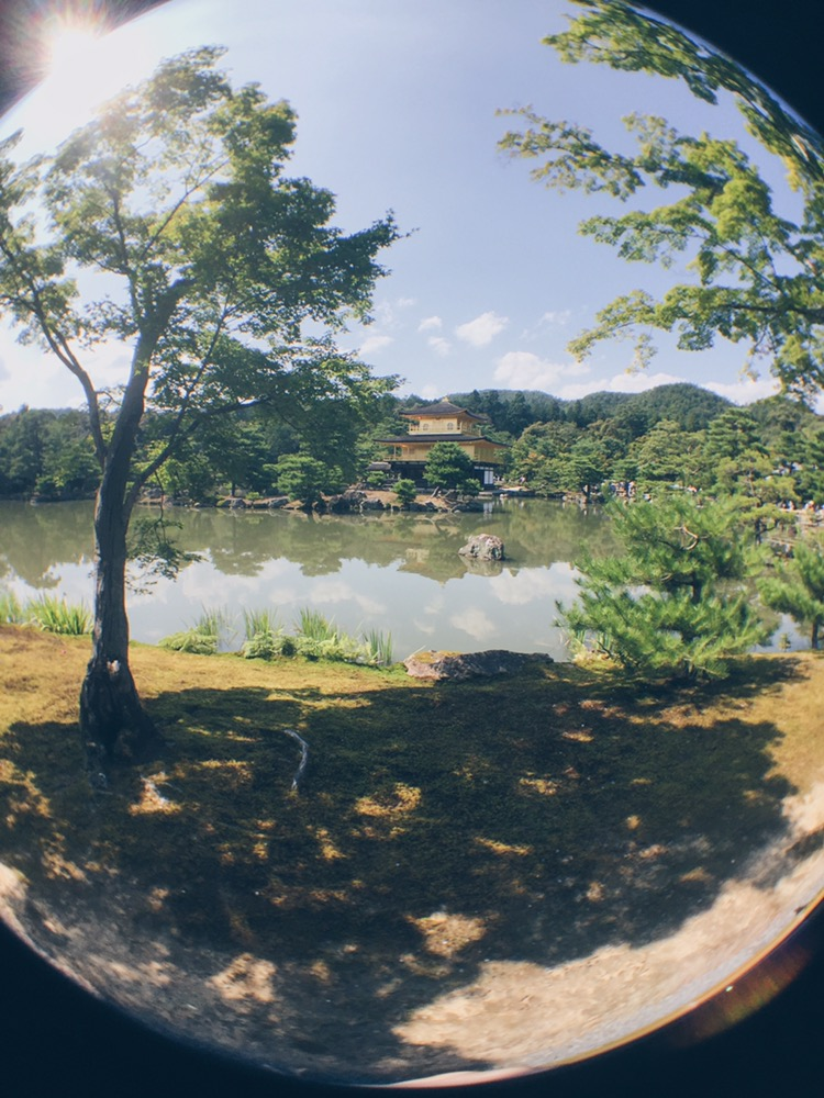 Kyoto, Japan - Kinkaku-ji or Golden Pavilion - Fish eye lens with Olloclip - helloteri