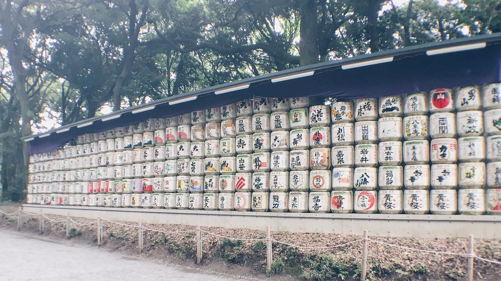 Meiji Jingu/Meiji Shrine - Barrels of Sake - helloteri