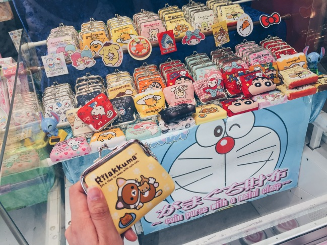 Tokyo and Osaka, Japan - All you need to know about Japanese Claw Machines - Rilakkuma Coin Pouch - Assorted Coin Pouches - helloteri